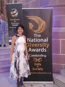 Shainul Kassam at the National Diversity Awards 2017