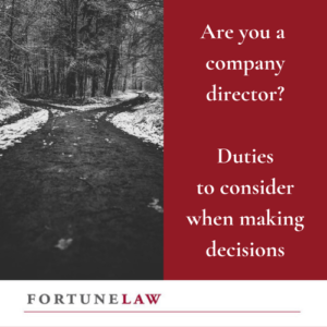 Tile are you a company director? Duties to consider when making decisions.