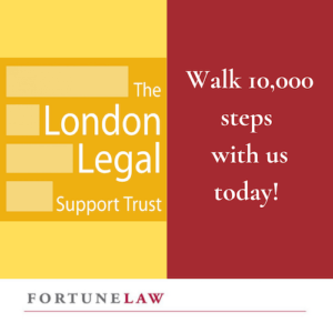 showing our support to The London Legal walk